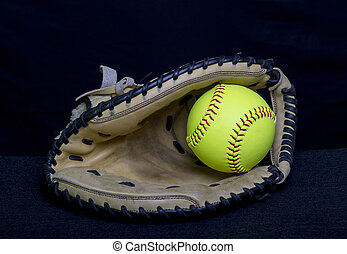 Fastpitch Catchers Mitt - A fastpitch catchers mitt used for...
