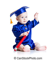 Smart baby in academician clothes - Smart baby with big...