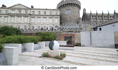 Garda Memorial Garden in Dublin Castle - Garda Memorial...