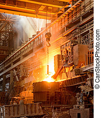 steel plant - plant for the production of iron and steel