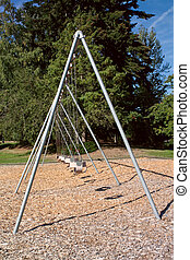 Large Toddler Swing - A large toddler swing set in a...