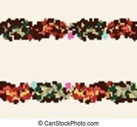 Floral doodle frame
