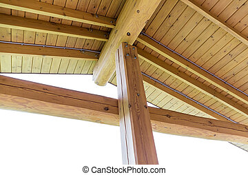 Wooden roof structure - Interior view of a wooden roof...