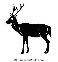 silhouette deer