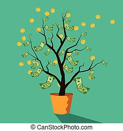 money tree of successful business