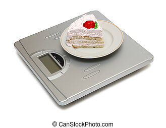 cake on scales