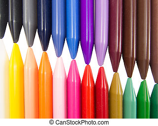 full color crayon left diagonal - full color crayon left...