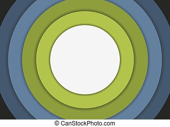 6 concentric circles in cold colors background