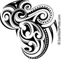 Ethnic ornament - Vector illustration of ethnic style tattoo...