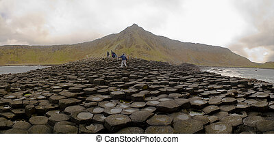 Panorama of Giant\'s Causeway - Landscape of Giant\'s...