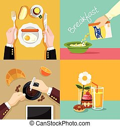Vector food illustration set