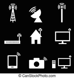 Wireless technology icon