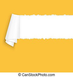 ripped open paper orange - vector of ripped open paper...