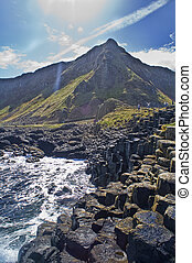 Picture of Giant\'s Causeway in Northern Ireland. -...