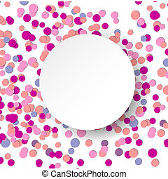 Vector illustration with pink confetti celebration...