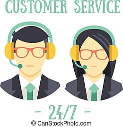 Call center avatar icons