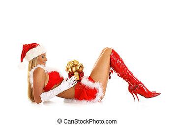 joven, Sexy, Santa, ,