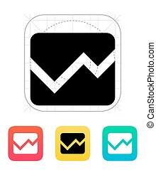 Line chart icon.
