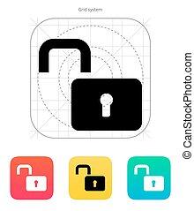 Padlock open icon Vector illustration