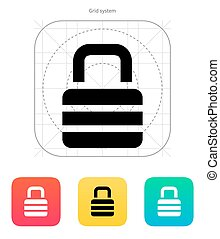 Padlock icon. Vector illustration.