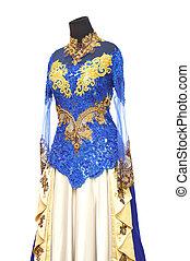traditionnel, indonésien,  kebaya, robe, mariage