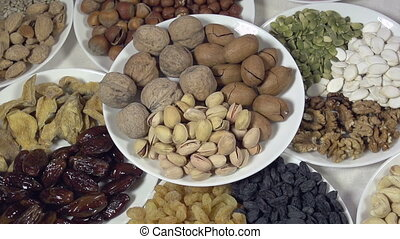 Dish with Nuts and Dried Fruits
