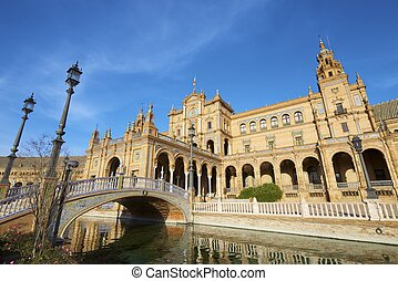 Seville - Given Spains Square, located in the Parque Maria...