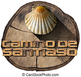 Camino de Santiago - Pilgrimage Symbol - Pilgrimage wooden...