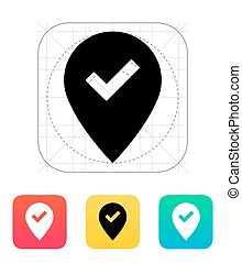 Accept map pin icon Vector illustration