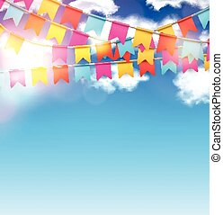 Party celebration background - Celebrate banner Party flags...