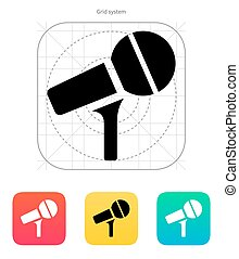 Microphone on stand icon.