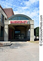 Emergency Room Sign - Emergency room entrance sign at local...