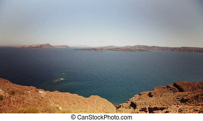 Santorini, Greece, Caldera - View of the Caldera from Fira....