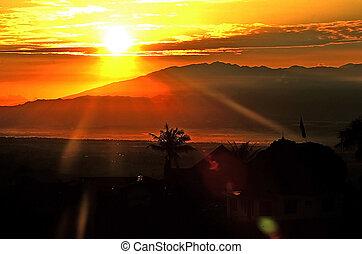 Sunrise at Mount Semeru