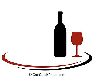 wine bottle and glass background - red wine bottle and glass...