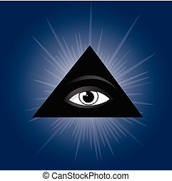 All seeing eye of providence Masonic symbol - Masonic symbol...