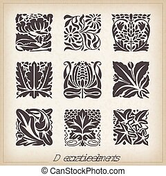 Caligraphic design elements - Vector set: calligraphic...