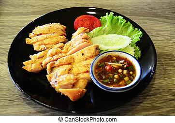 Classic roast chicken & Thai Spicy