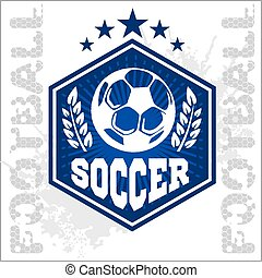 Football Soccer Badge, Patch and Emblem for sport team