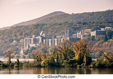 West Point - Toned image of West Point taken from across the...
