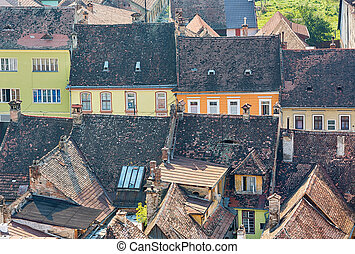 Sighisoara, Romania - Typical architecture in Sighisoara,...