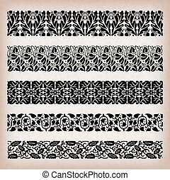 Borders - Decorative vintage borders.