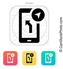 Road navigator icon. Vector illustration. - Road navigator...