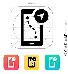 Route navigator icon. Vector illustration. - Route navigator...