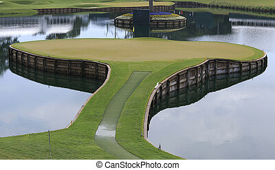 hole 17 on TPC Sawgrass golf, ponte vedra, florida, usa