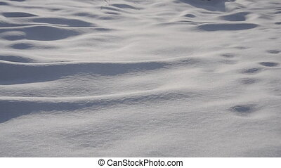 Snow surface abstract