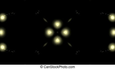 luminous yellow elements - Symmetric motion of luminous...