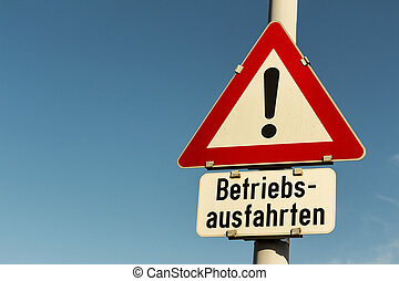 sign operation exits - traffic signs caution operation exits...