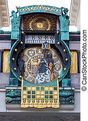 austria, vienna, anker clock - the anchor clock in vienna,...