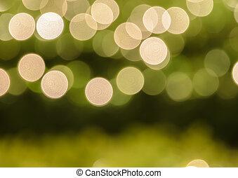 Abstract Christmas lights bokeh background - Defocused...